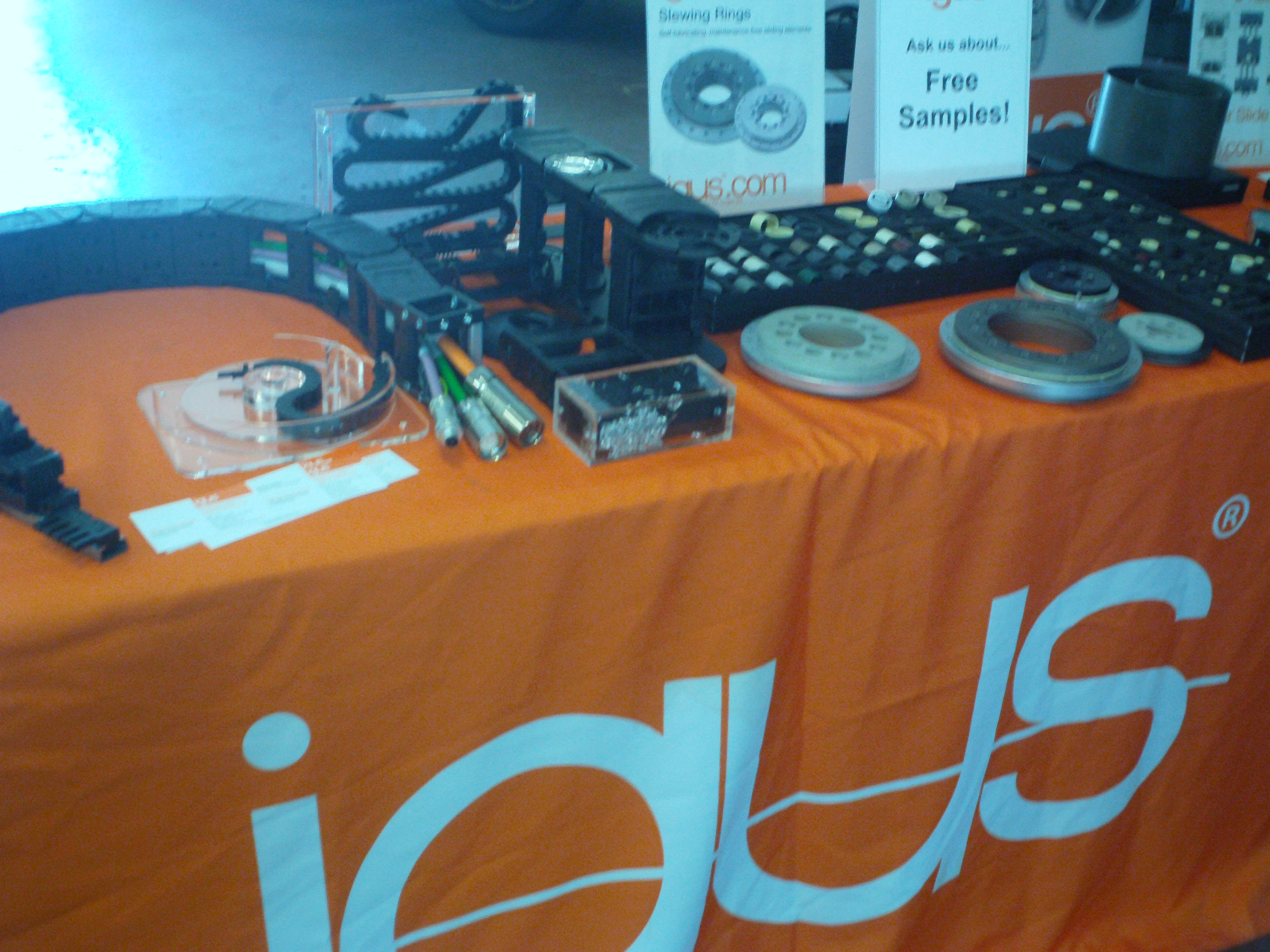 Igus wire and hose management improvements for robotics and shop